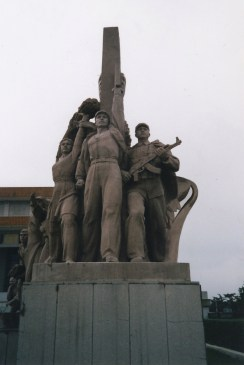 plant boy_communist statue