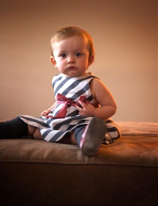 Nel's striped scallop dress