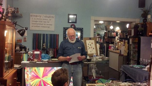 Joe Stierheim reads a memorable story, set in Appalachia, about a girl with blue eyes.