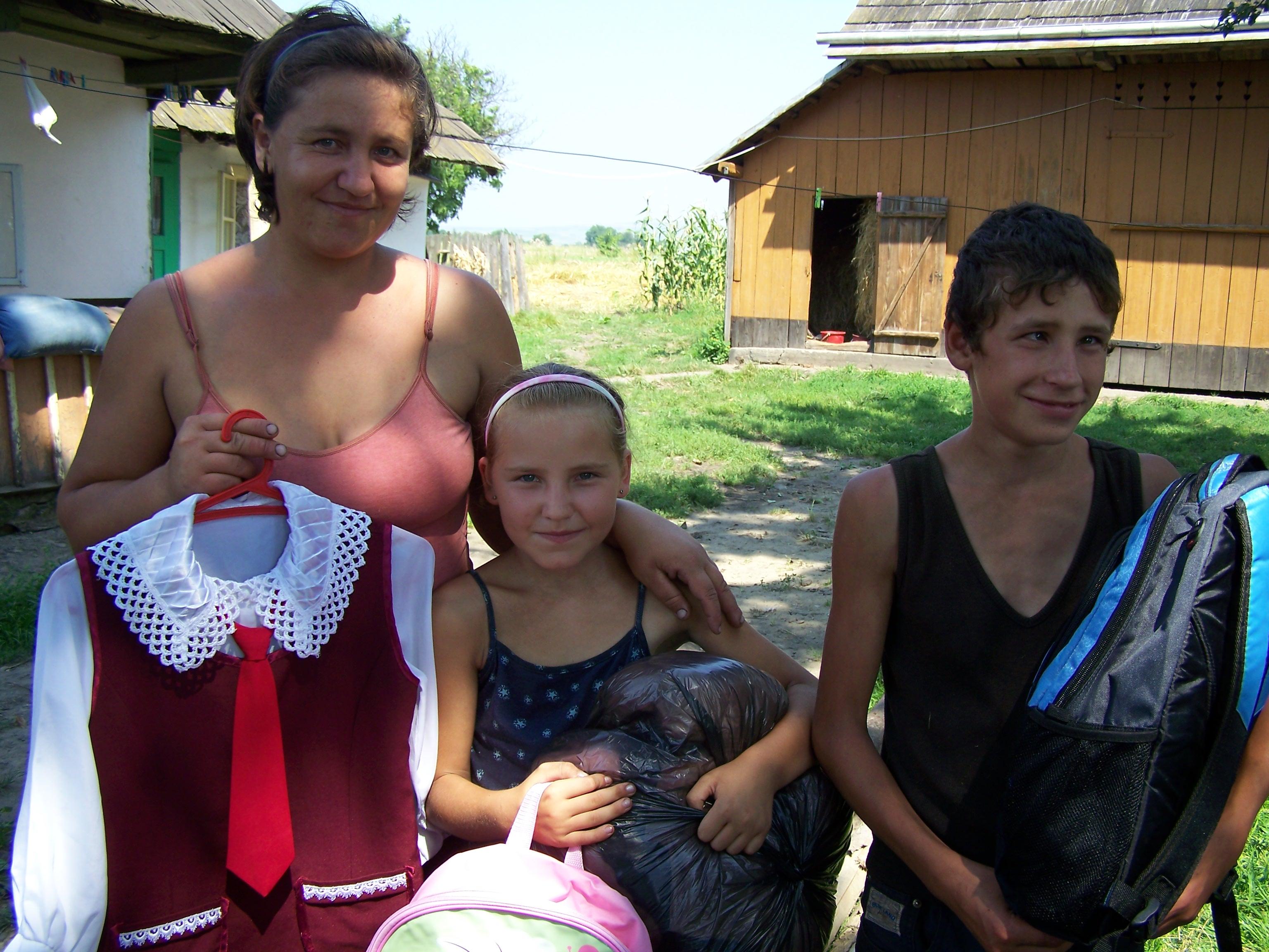 Diana & Bogdan with mom, Olga