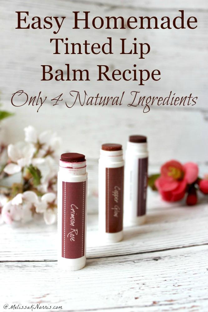 Homemade Tinted Lip Balm Recipe Easy DIY