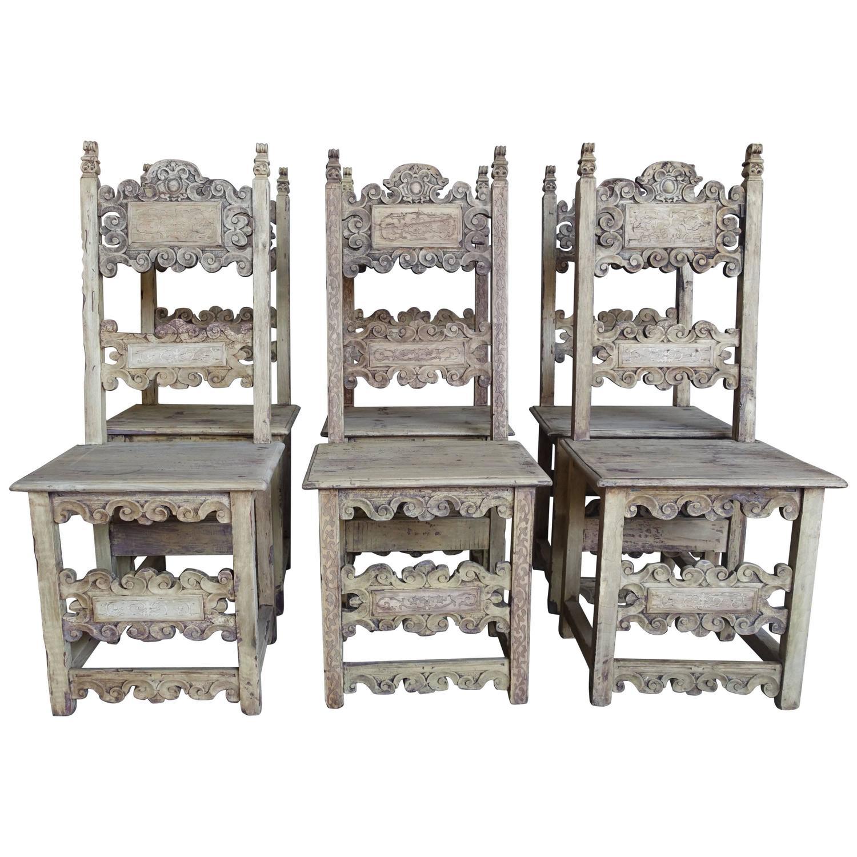 Set Of 18th Century Italian Dining Chairs Melissa