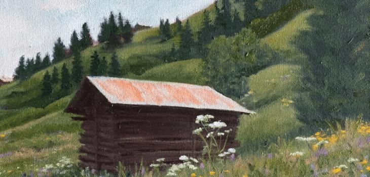Old Barn Murren Switzerland