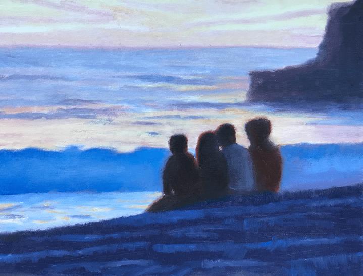 Sunset Davenport Landing Beach