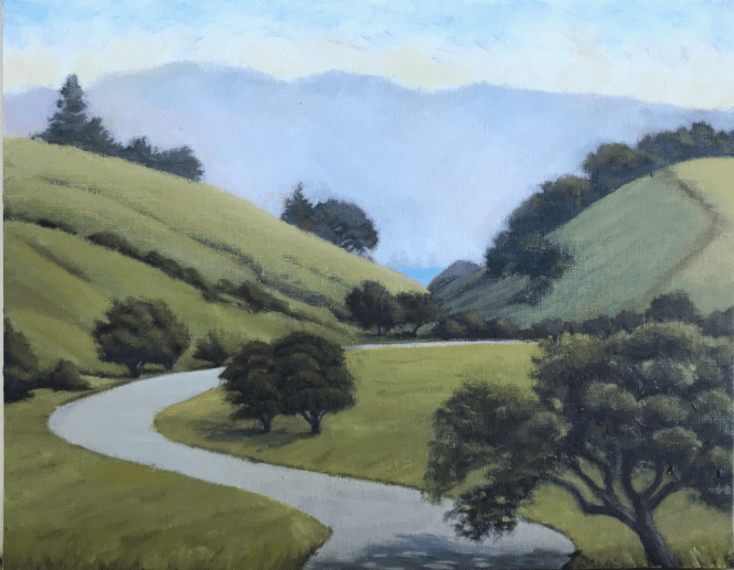Palo Alto Foothils Park View plein air
