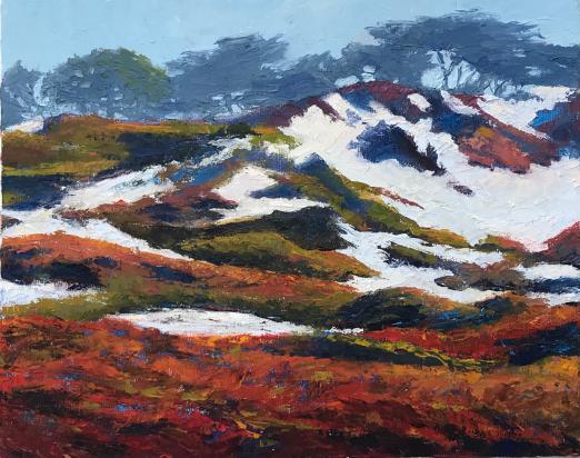 Asilomar Iceplant Sand Dunes Oil Painting