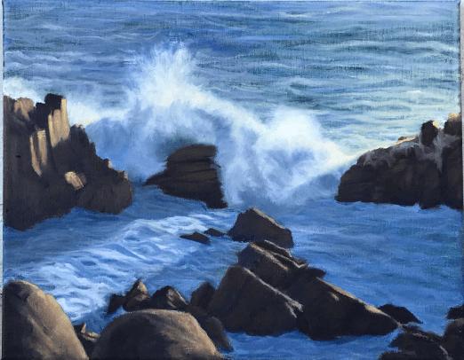 Seascape Waves California Coast