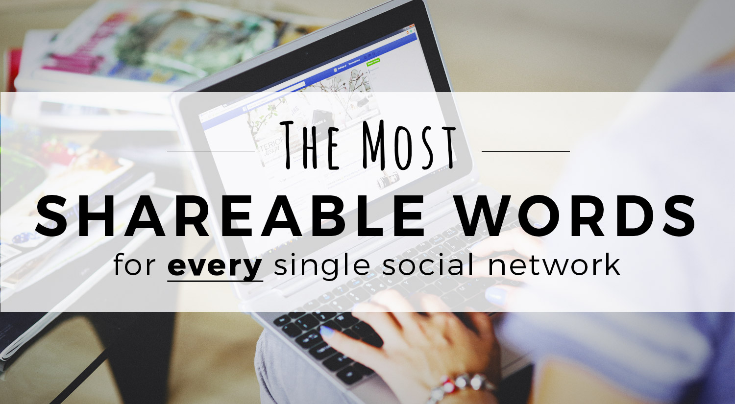 The Most Shareable Words for Every Single Social Network