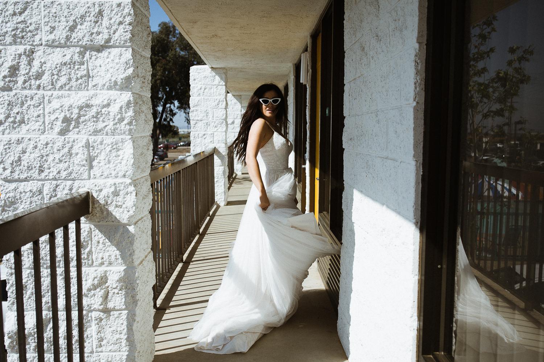 Bridal portraits San Diego Hotel