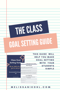 Class Goal Setting Guide. Set goals with your students using the Class Goal Setting Guide #studentneeds #differentiation