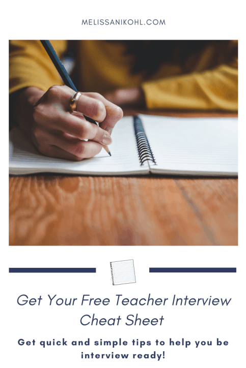 Free Teacher Interview Cheat Sheet