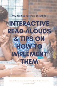 Do you do daily read alouds in your reading block? Have you tried interactive read alouds? Interactive read alouds are a great way to engage your students while you're reading. You can use interactive read alouds to teach or reteach reading skills from your lesson. More importantly, interactive read alouds are great way to trick your students into learning reading skills! #interactivereadalouds #readaloud #readalouds #readaloudtips