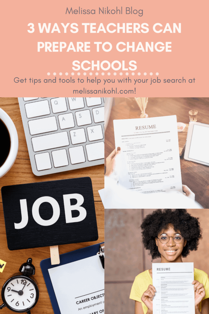 Learn three ways teachers can prepare themselves to change schools. #teachingjobs #teacherinterview #teacherresume #teacherportfolio