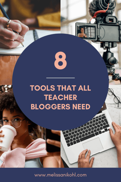 Are you a new teacher blogger? Do you want to start a Teacher YouTube Channel? Do you want to become a Teacher Influencer on Instagram? If you're an educator wanting to share your thoughts and expertise about teaching online, you need these tools. These tools will help you stand out in the teacher blogger/vlogger world! Find out what tools you need to make your content reach a larger audience! #teacherblog #teacherblogger #teachervlog #teachervlog