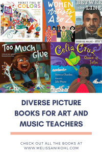 Music and Art Teachers should definitely join in the fun of reading to students. There are tons of books that can be read in those classes that work effortlessly! All teachers should have a diverse classroom library! Check out this list to use in your classroom now! #musicteacher #artteacher #diverseclassroomlibrary