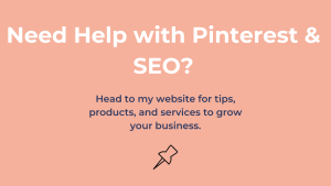 Pinterest and SEO Help