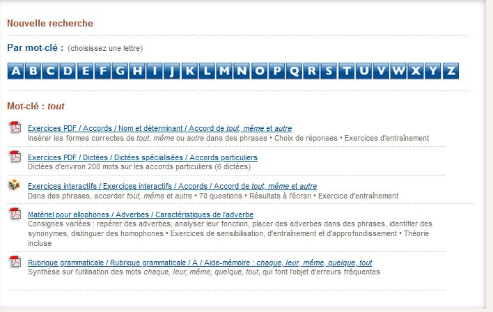 Grammaires en ligne - CCDMD