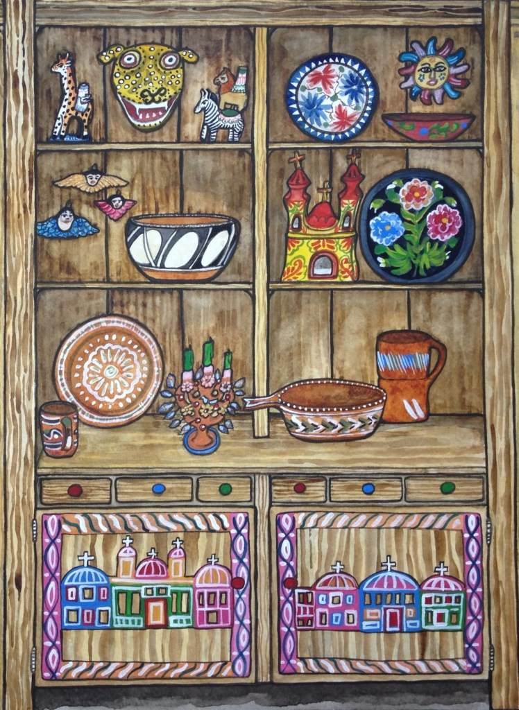 """Trastero Folklorico"" - traffic box in Nampa, Idaho by Melissa ""Sasi"" Chambers"