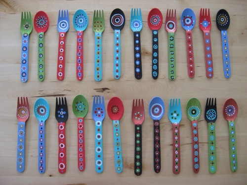 ©2019 Melissa 'Sasi' Chambers - Painted Spoons and Forks