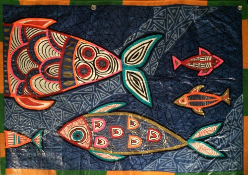 fish Tarpestry detail by Sasi