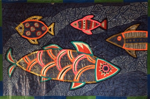 Fish Tarpestry by Sasi