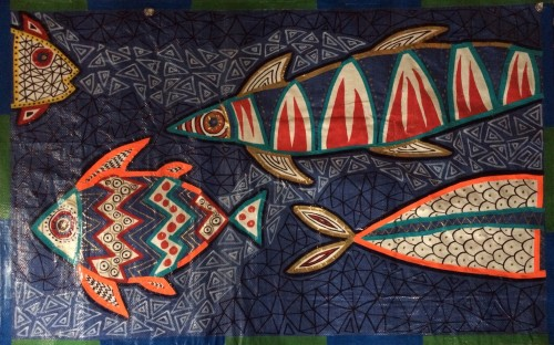 """Fish Tarpestry by Melissa """"Sasi"""" Chambers"""
