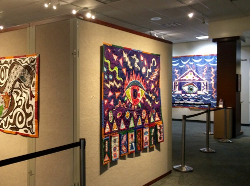 "View of Third Eye Tarpestry at ""TARPESTRIES"" exhibition"