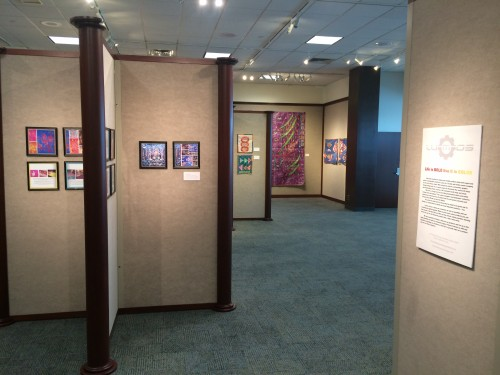 """View of """"Tarpestries"""" Exhibition at BSU"""
