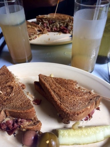 Reuben's and Pimm's Cups at Napoleon House