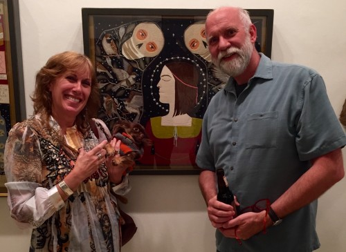 Melissa, Lula and Mike Chambers at Antieau Gallery