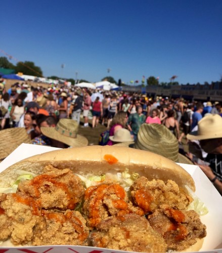 Oyster poboy at Jazz Fest 2016