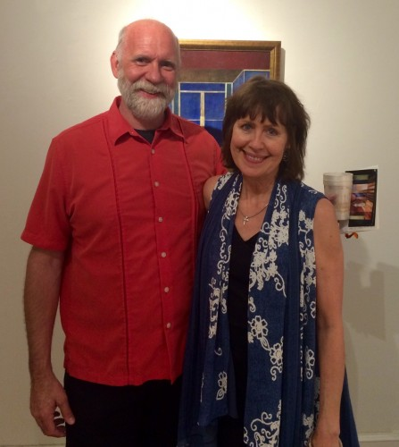 Mike Chambers with Carol Robinson at House Ghosts Opening