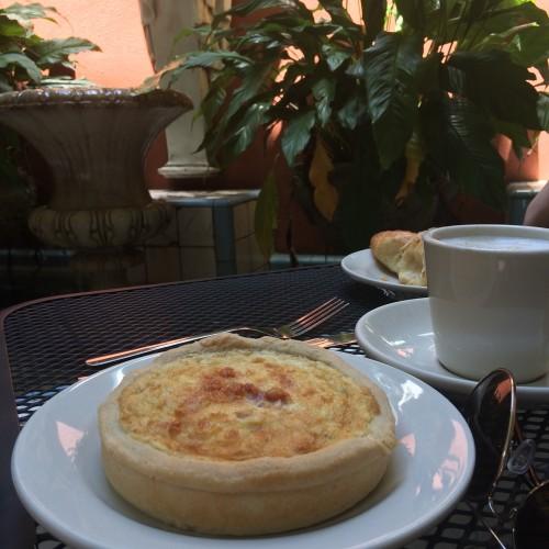 Quiche at Croissant d'Or