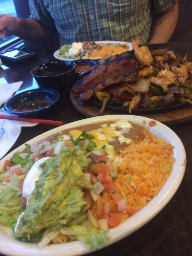 Fajitas at El Paso Mexican Grill