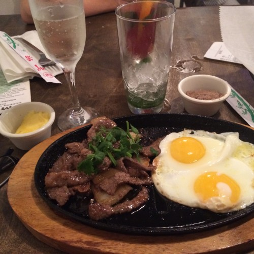 Steak and eggs at Modern Mint
