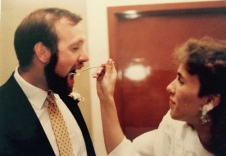 Mike and Melissa at their wedding 1986