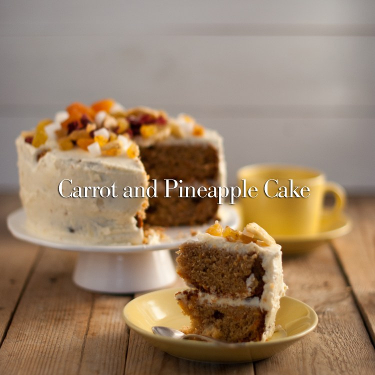 Carrot cake with pineapple