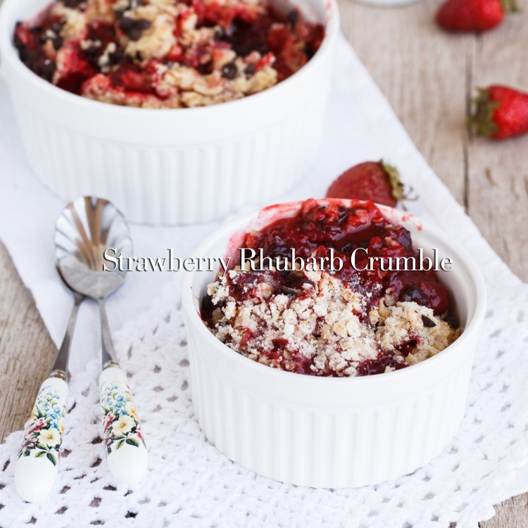 Strawberry crumble homemade.selective focus.