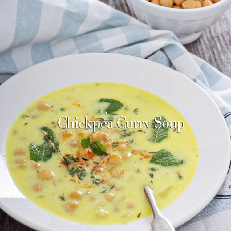 Chickpea Stew with Saffron, Yogurt
