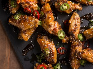 Honey Serrano Chicken Wings