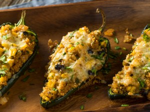 Homemade Roasted Quinoa Stuffed Poblano Peppers