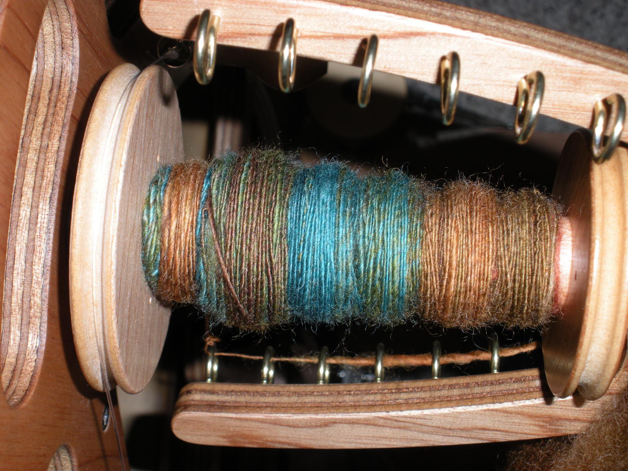 My Singles for my scarf yarn.