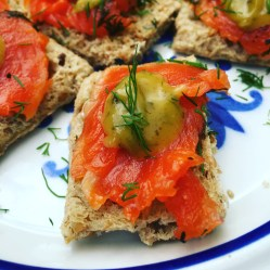 Copper River Gravlax on Dave's Bread