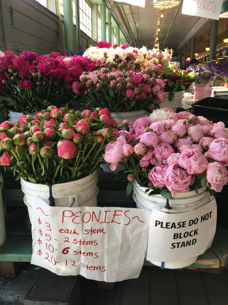 Peonies in buckets w pricing