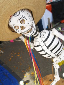 Day of the Dead themed arts and crafts were on display and for sale this weekend.