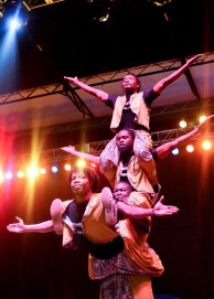 The Human Pyramid and other astounding performances showcased by the Circus of Light can be seen now until January 4th, 2015 at the Global Stage. Photo Alejandro Montaño.