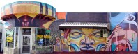 Mural at Pico and Redondo in Los Angeles by S. Burner, Bounce, Nena Soulfly