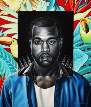 Kanye West by Rinat Shingareev. Oil on Canvas.