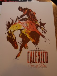 Show poster for Calexico by Asbestos Press