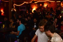 The crowd hanging out at the Hideaway for The Wall art show presented by TUBE. Sacramento, CA. Photo Alejandro Montaño